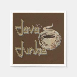 Java Junkie Coffee Lovers Dark Brown Napkins Standard Cocktail Napkin