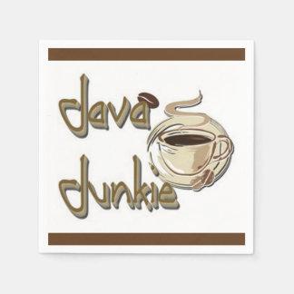 Java Junkie Coffee Lovers White Napkins Standard Cocktail Napkin