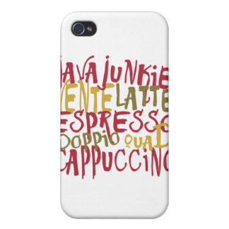 Java Junkie - Fun Coffee Lovers Gifts & Apparel Cases For iPhone 4