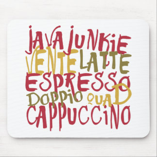 Java Junkie - Fun Coffee Lovers Gifts & Apparel Mouse Pad