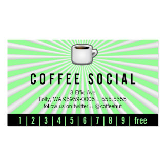 Java Logo Drink Burst Loyalty Double-Sided Standard Business Cards (Pack Of 100)