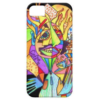 Java Man-Abstract Art- iPhone 5 Case