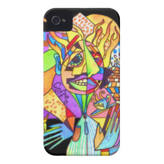 Java Man-Abstract Art- Case-Mate iPhone 4 Case