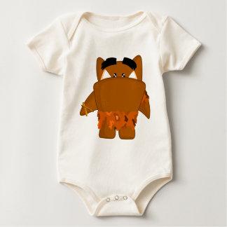 Java man monster baby bodysuit