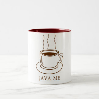 Java Me Two-Tone Coffee Mug