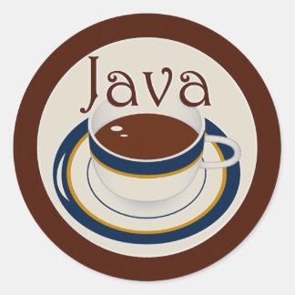 Java Pegatina Redonda