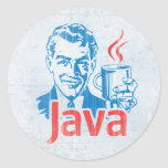 Java Programmer Classic Round Sticker