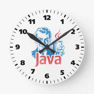 Java Programmer Gift Round Clock