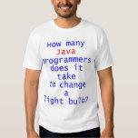 Java Programmer Light Bulb Joke Tee Shirt