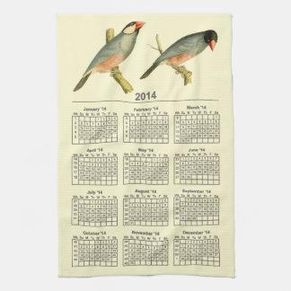 Java Sparrow, 2014 calendar Hand Towels