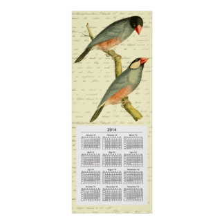 Java Sparrow 2014 calendar, Print