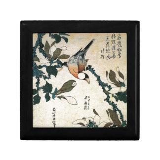 Java Sparrow and Kobushi Magnolia by Hokusai Gift Box