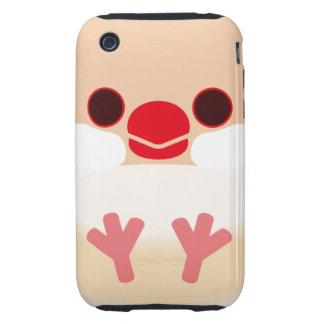 Java sparrow (Cream) iPhone 3 Tough Case