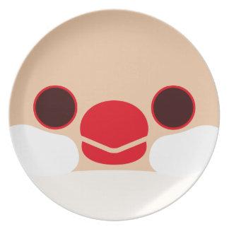 Java sparrow (Cream) Plates