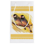 Java Sparrow Finches Realistic Painting Gift Bag