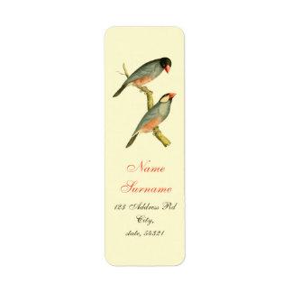 Java Sparrow, Custom Return Address Label