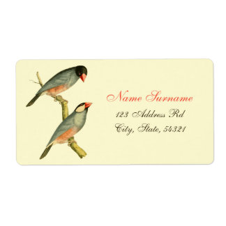 Java Sparrow, Shipping Label