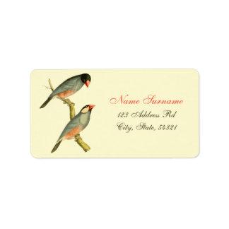 Java Sparrow, Custom Address Label