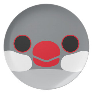 Java sparrow (Silver) Party Plates