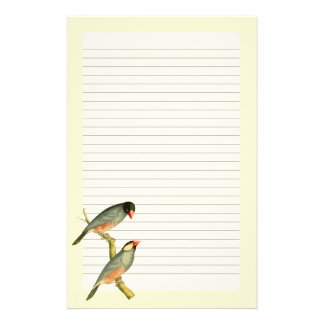 Java Sparrow, Personalized Stationery