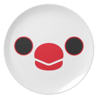 Java sparrow (White) Dinner Plate