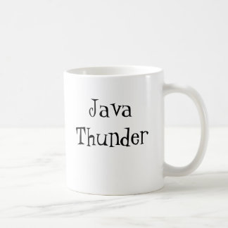 Java Thunder, Directions:  Add Java, Energize. Coffee Mug