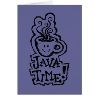 Java Time; Can we go for Coffee? Card