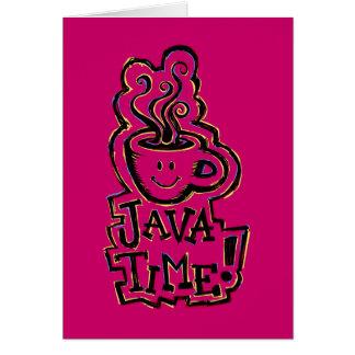 Java time; lets get together! card