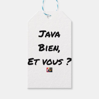 JAVA WELL, AND YOU? - Word games Gift Tags