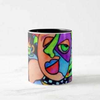 Java Woman Two-Tone Coffee Mug