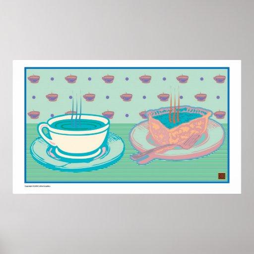 Java y Empanada-Impresión Poster