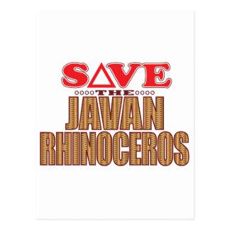 Javan Rhino Save Postcard