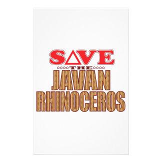 Javan Rhino Save Stationery