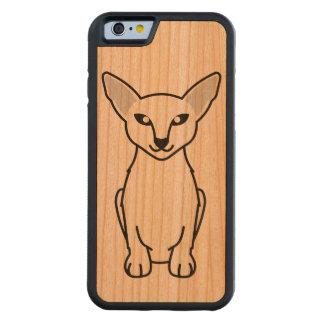 Javanese Cat Cartoon Carved Cherry iPhone 6 Bumper Case