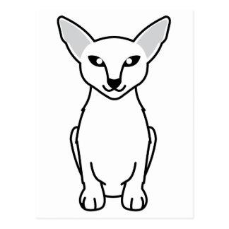 Javanese Cat Cartoon Postcard