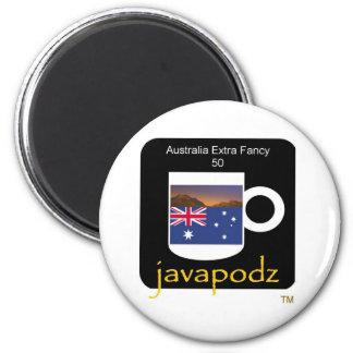 JavaPodz Australia Extra Fancy Frig Mag 2 Inch Round Magnet