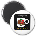 JavaPodz Collectible Chocolate Cherry Frig Mag Magnets