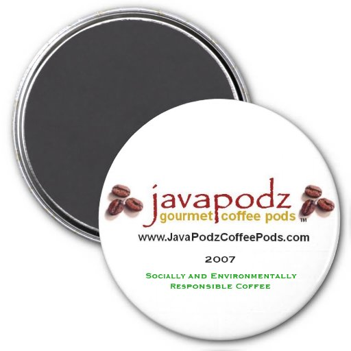 "JavaPodz Collectible ""Green"" 2007 Refrigerator Mag Refrigerator Magnet"