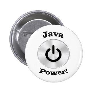 JavaPower-BlackLetters Pinback Button