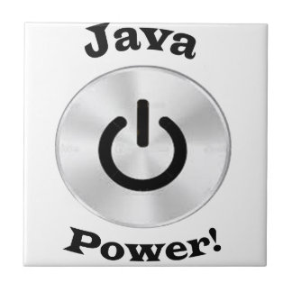 JavaPower-BlackLetters Tile