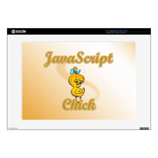 JavaScript Chick Decals For Laptops