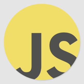 Javascript Classic Round Sticker