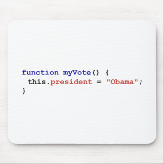 Javascript for Obama Mouse Pad