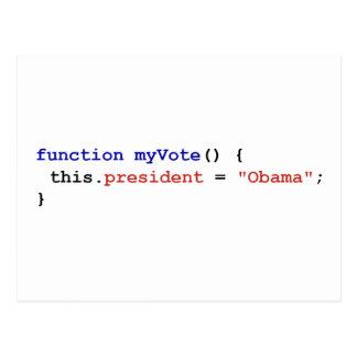 Javascript for Obama Postcard
