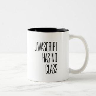 JavaScript has no class - coffee mug