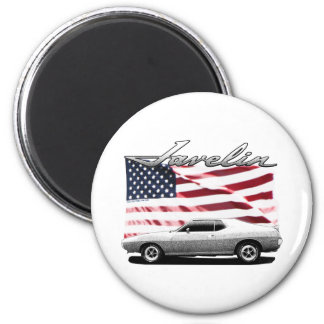 Javelin AMX muscle car 2 Inch Round Magnet