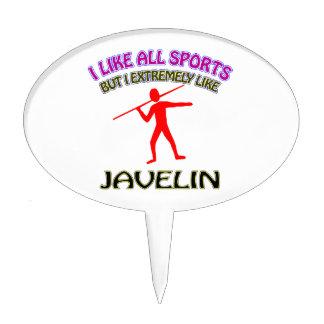 Javelin designs oval cake pick