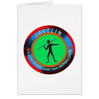 Javelin designs greeting card