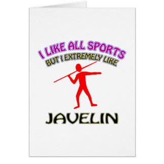 Javelin designs greeting cards