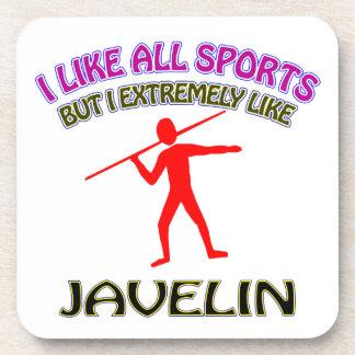 Javelin designs beverage coaster